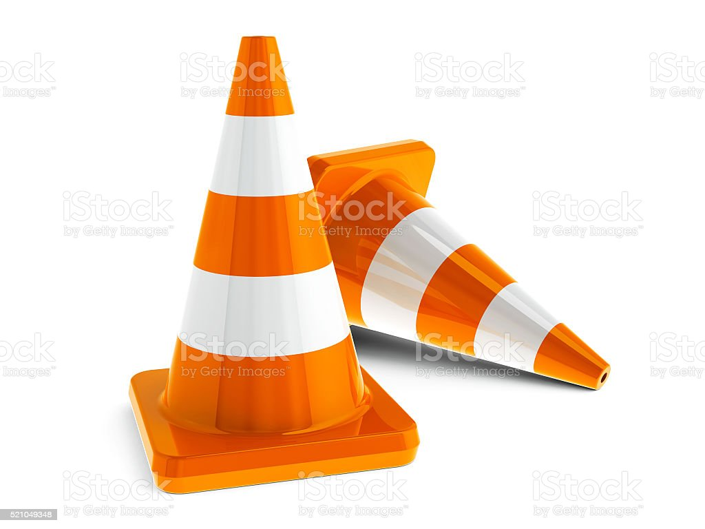 Traffic cones #5 stock photo