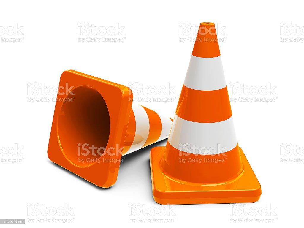 Traffic cones #6 stock photo