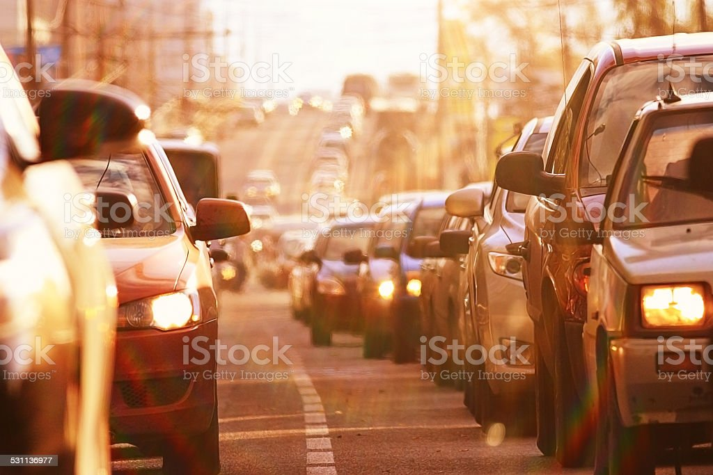 traffic congestion asia stock photo