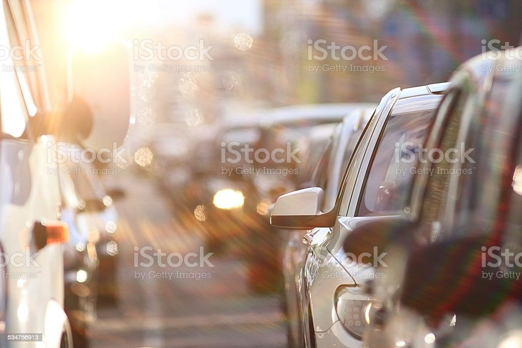 traffic congestion asia stock photo