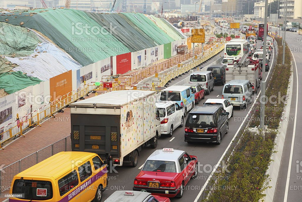 Traffic Congestion in Hong Kong royalty-free stock photo