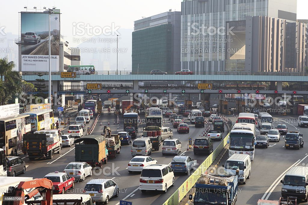 Traffic Congestion in Hong Kong royalty-free stock photo
