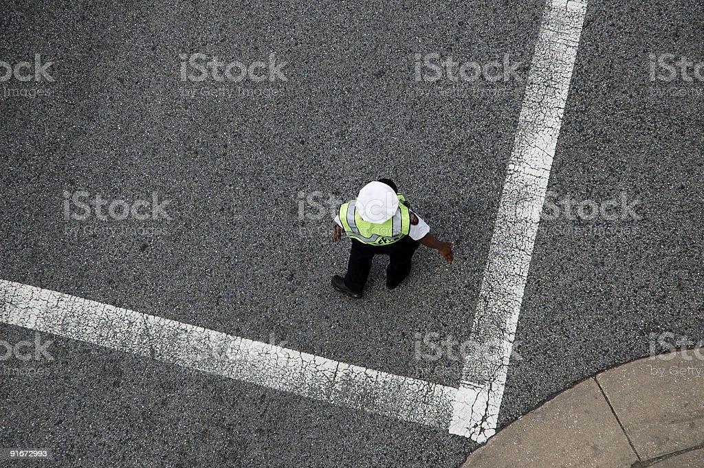 Traffic Cop royalty-free stock photo