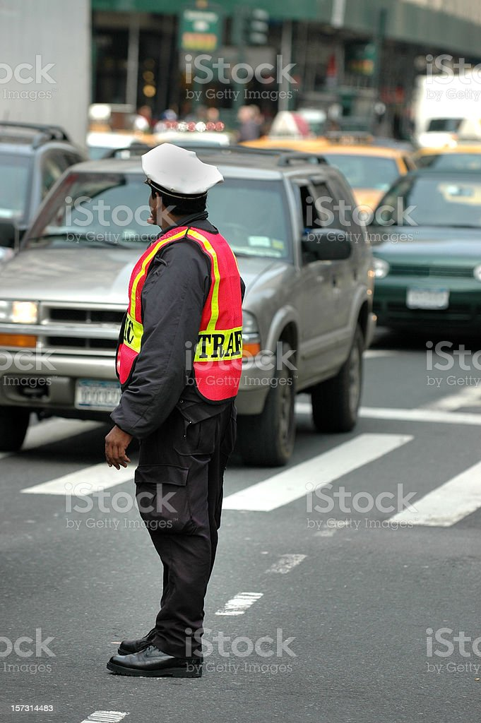 Traffic Cop Says Stop royalty-free stock photo