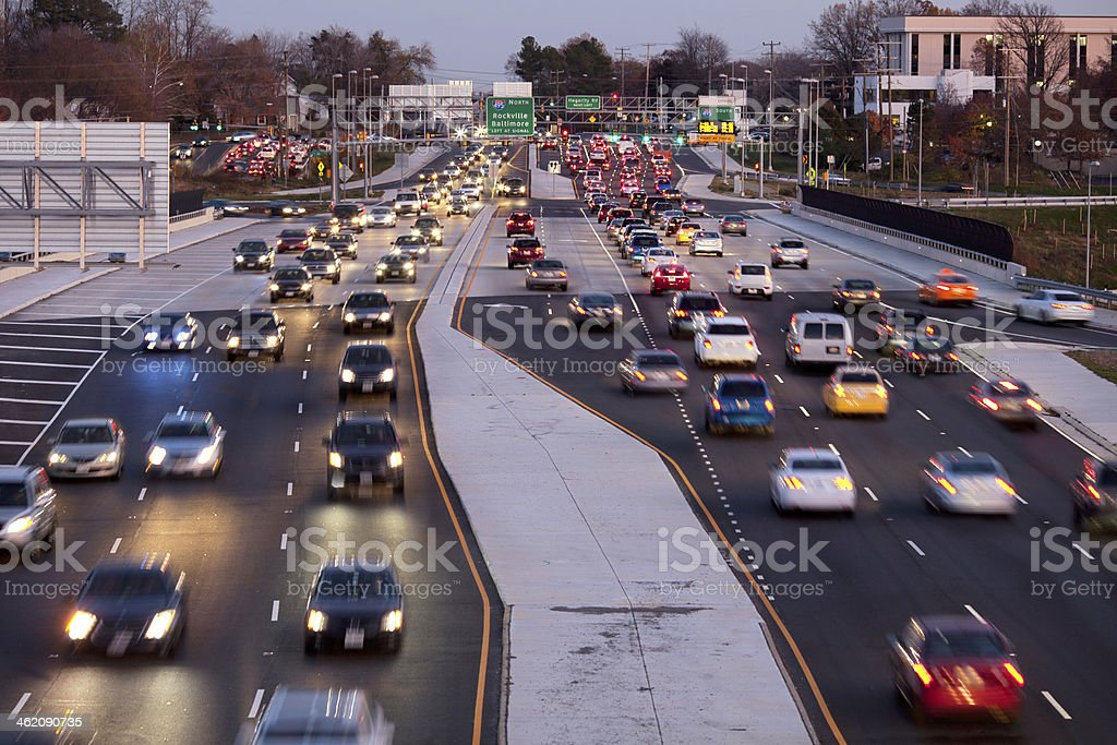 Traffic Fairfax County stock photo