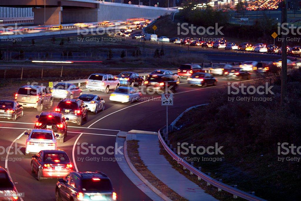 Traffic freeway ramp stock photo