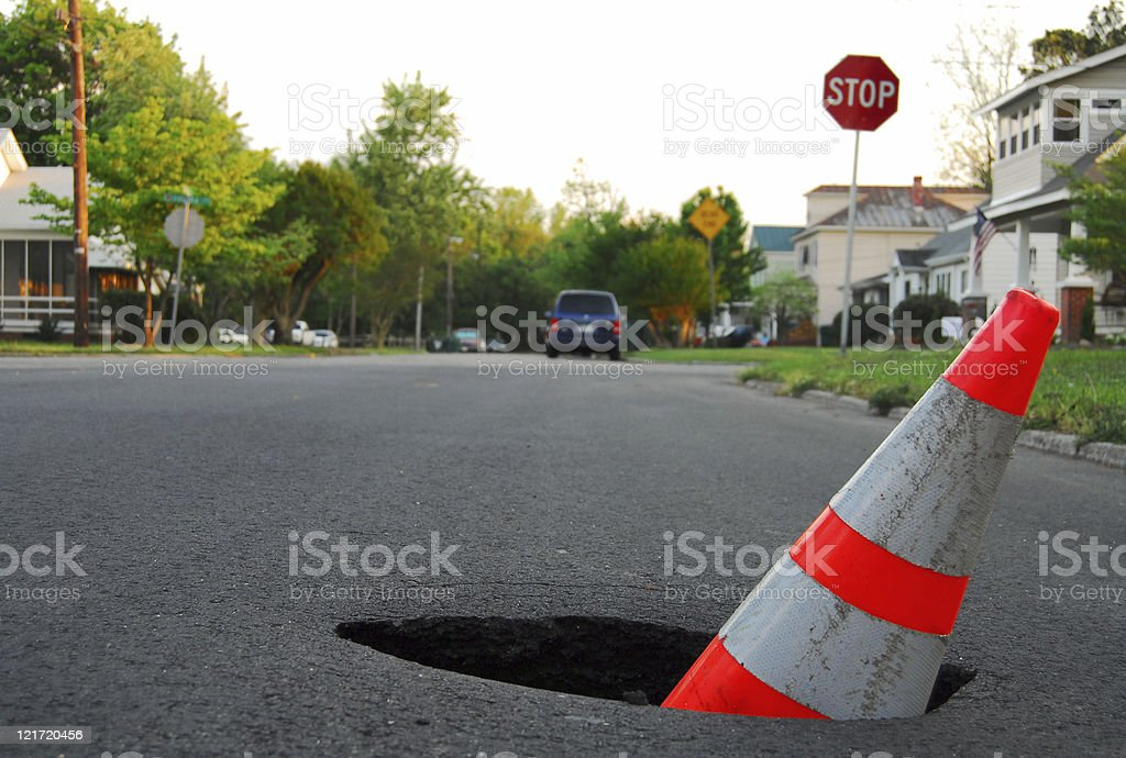 Traffic Hazard stock photo