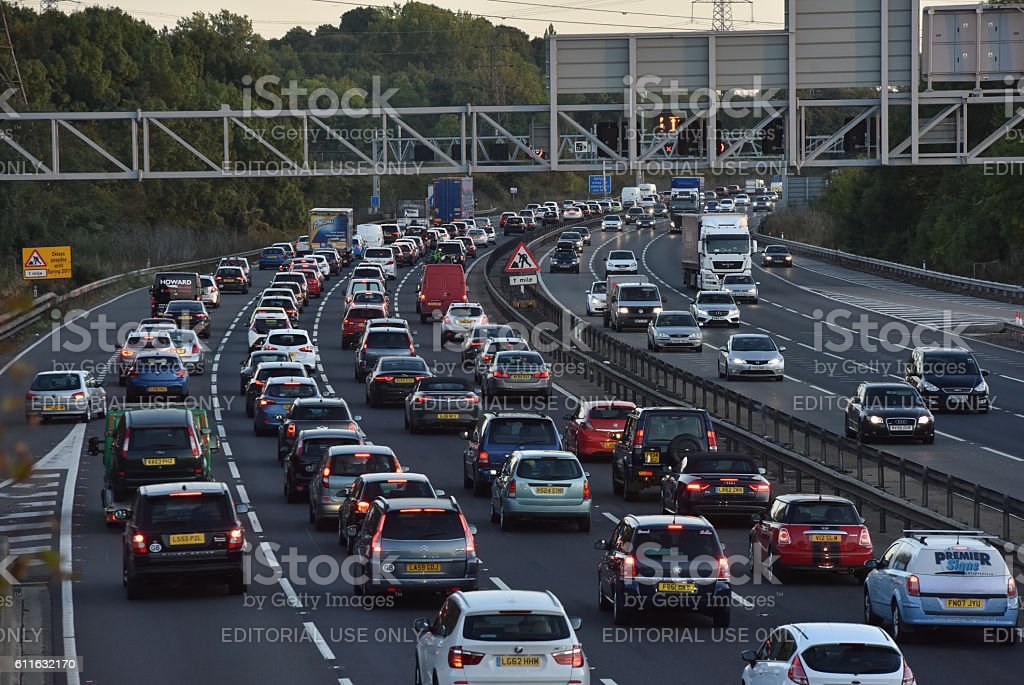 Traffic hold up stock photo