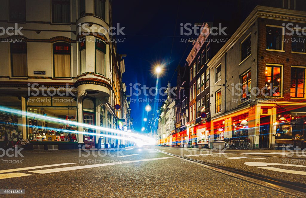 Traffic in Amsterdam stock photo
