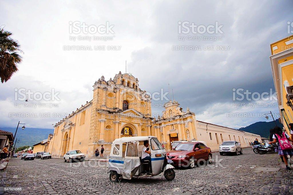 Traffic in Antigua stock photo