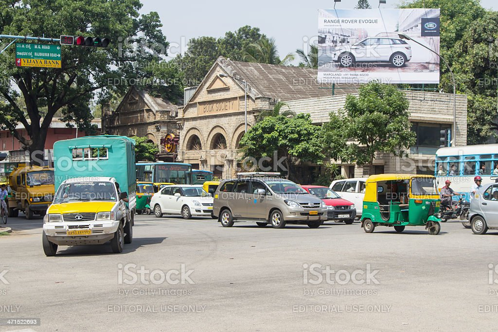 Traffic in Bangalore, India royalty-free stock photo