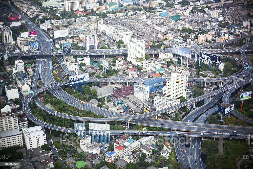 Traffic in Bangkok royalty-free stock photo