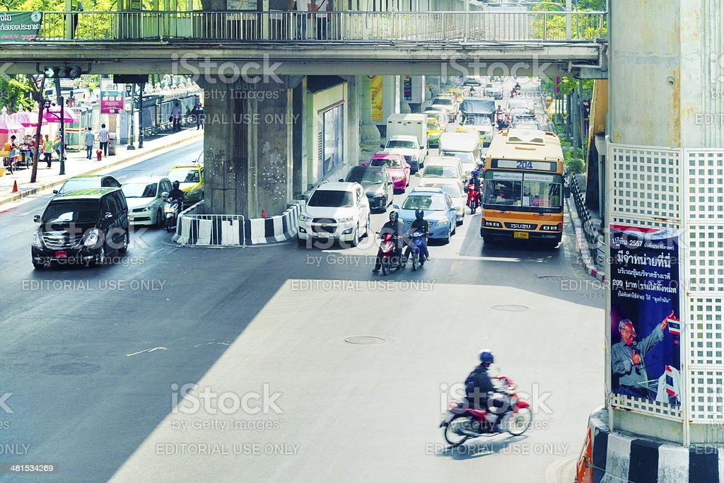 Traffic In Bangkok, Thailand royalty-free stock photo
