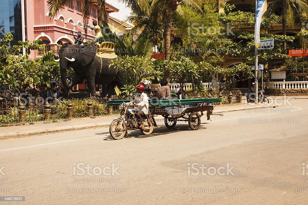 Traffic in Cambodia royalty-free stock photo