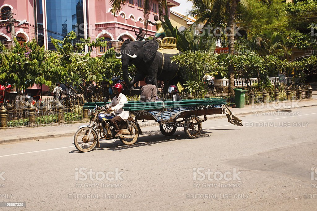 Traffic in Cambodia royalty-free stock photo