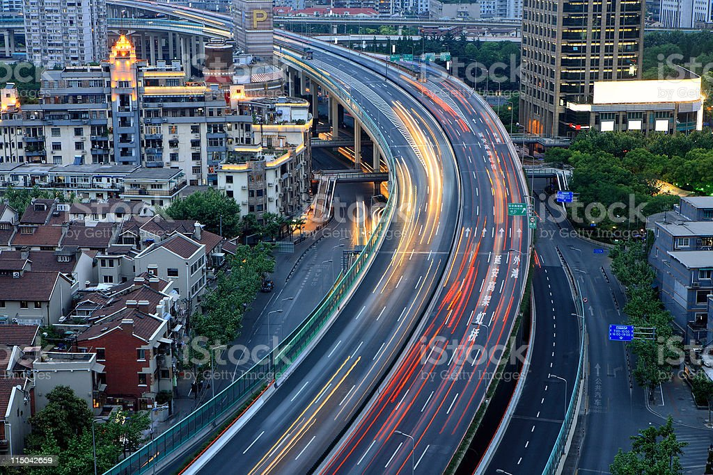 traffic in city royalty-free stock photo