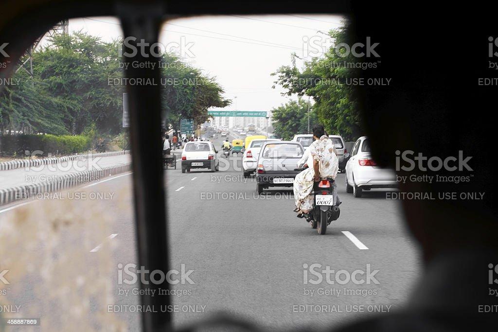 traffic in delhi royalty-free stock photo
