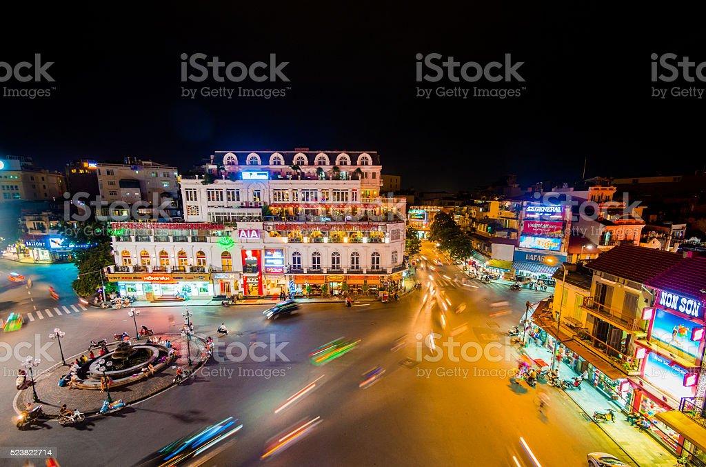 Traffic in Hanoi, Vietnam stock photo