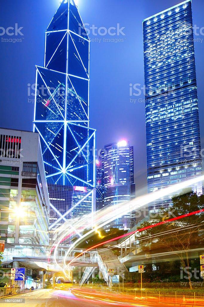 Traffic in Hong Kong royalty-free stock photo