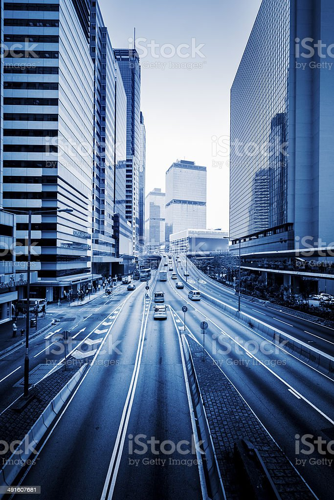 traffic in hong kong royalty-free stock photo