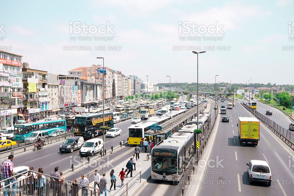 Traffic in Istanbul, Turkey stock photo