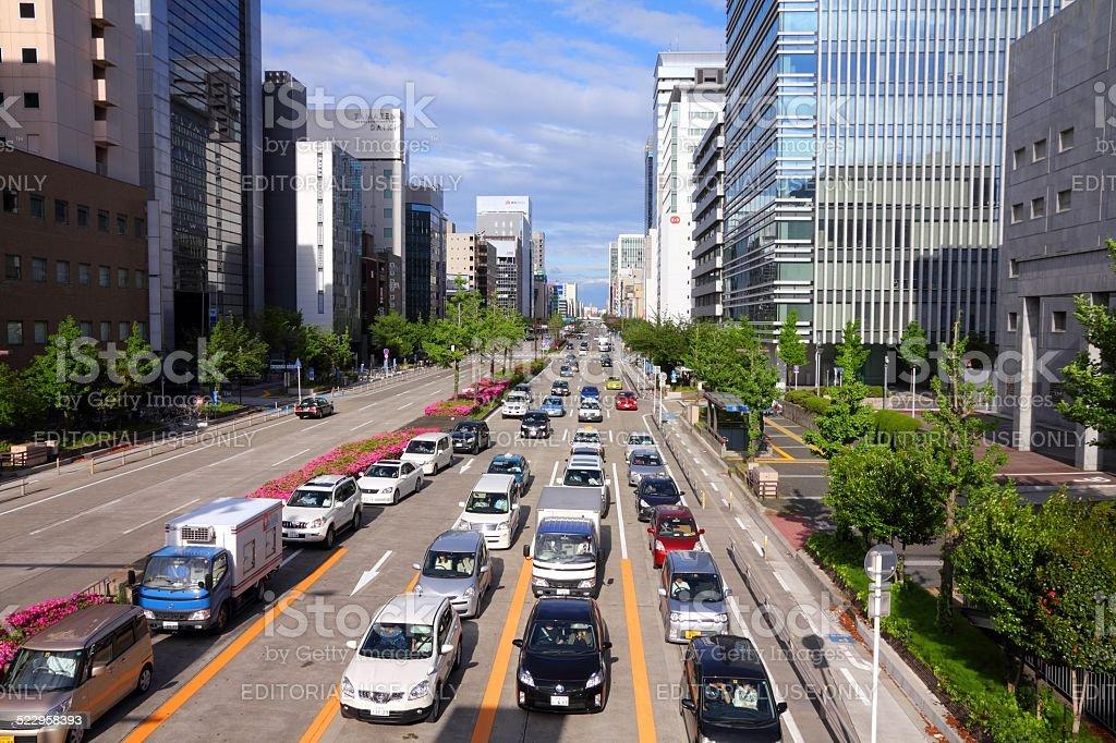 Traffic in Japan stock photo
