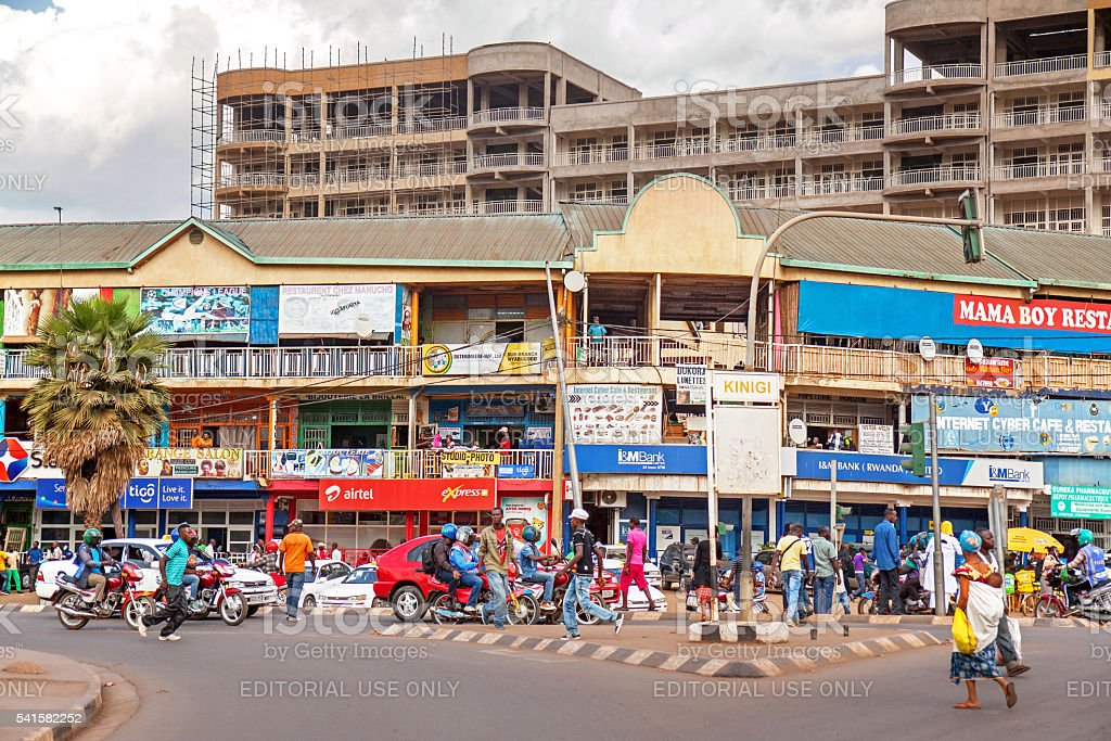 Traffic in Kigali, Rwanda stock photo