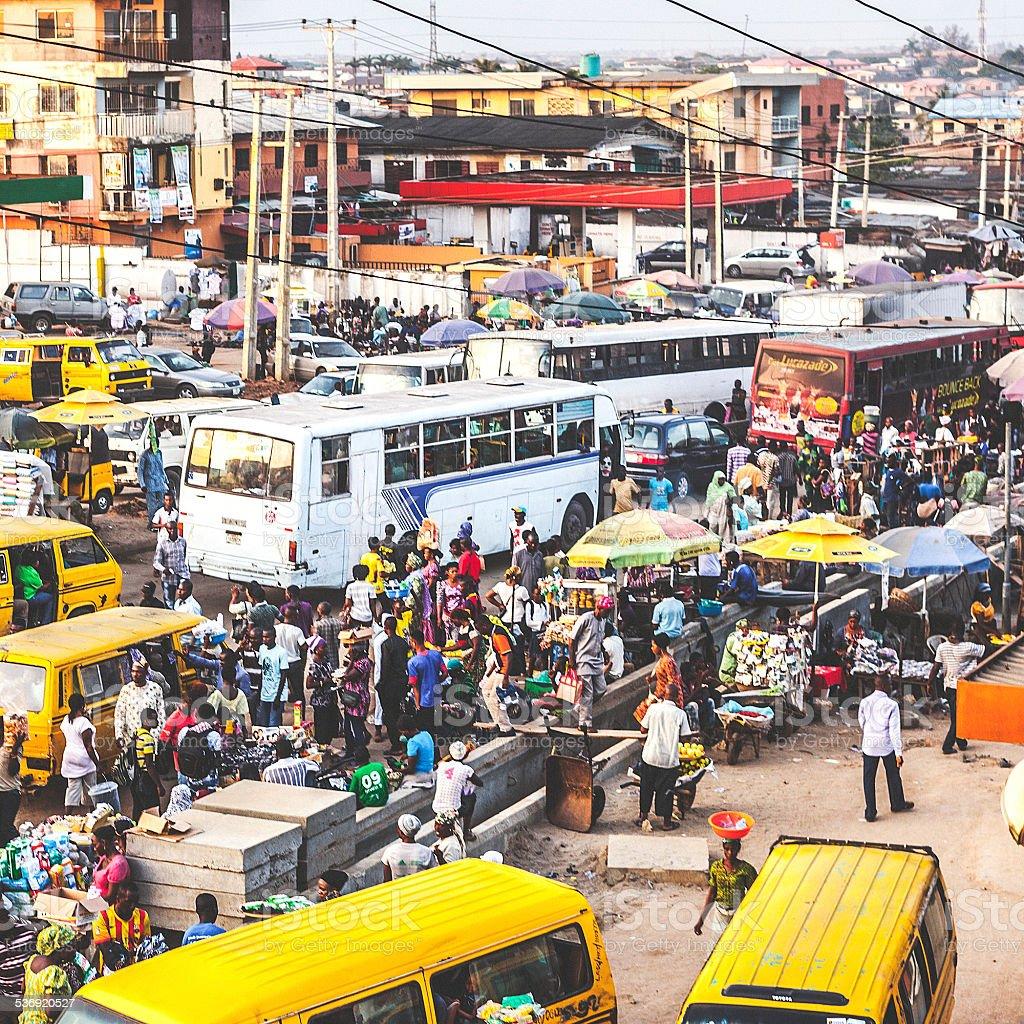 Traffic in Lagos. stock photo