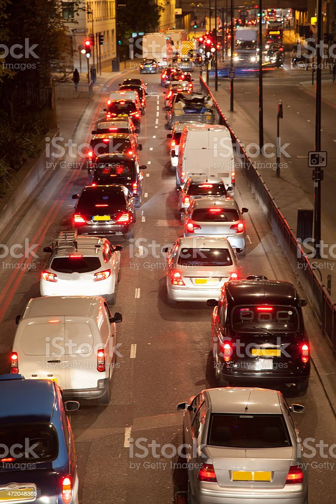 Traffic In London royalty-free stock photo