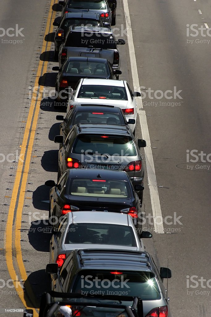 Traffic in Los Angeles royalty-free stock photo