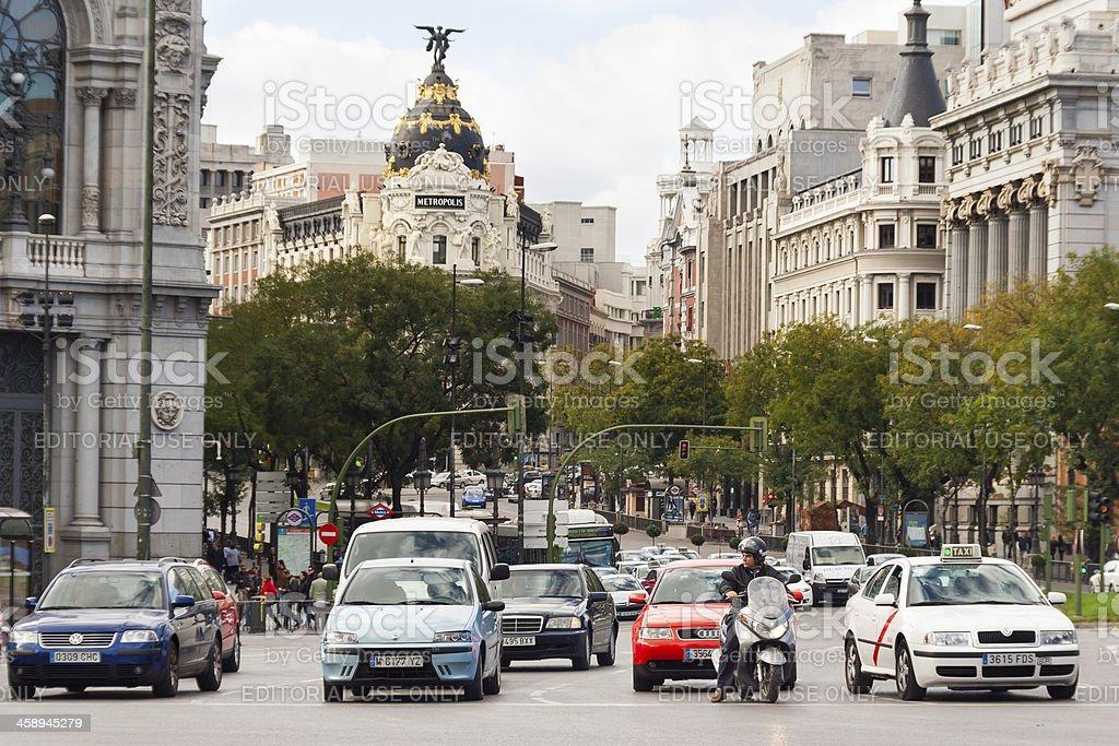 Traffic in Madrid stock photo
