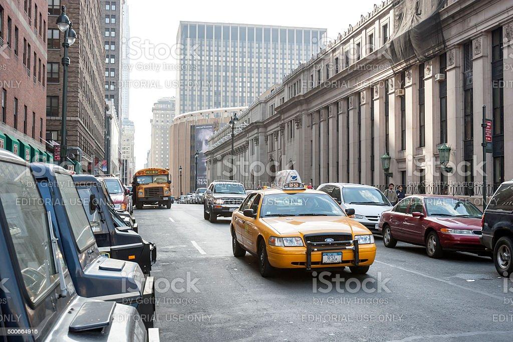 Traffic in Manhattan stock photo