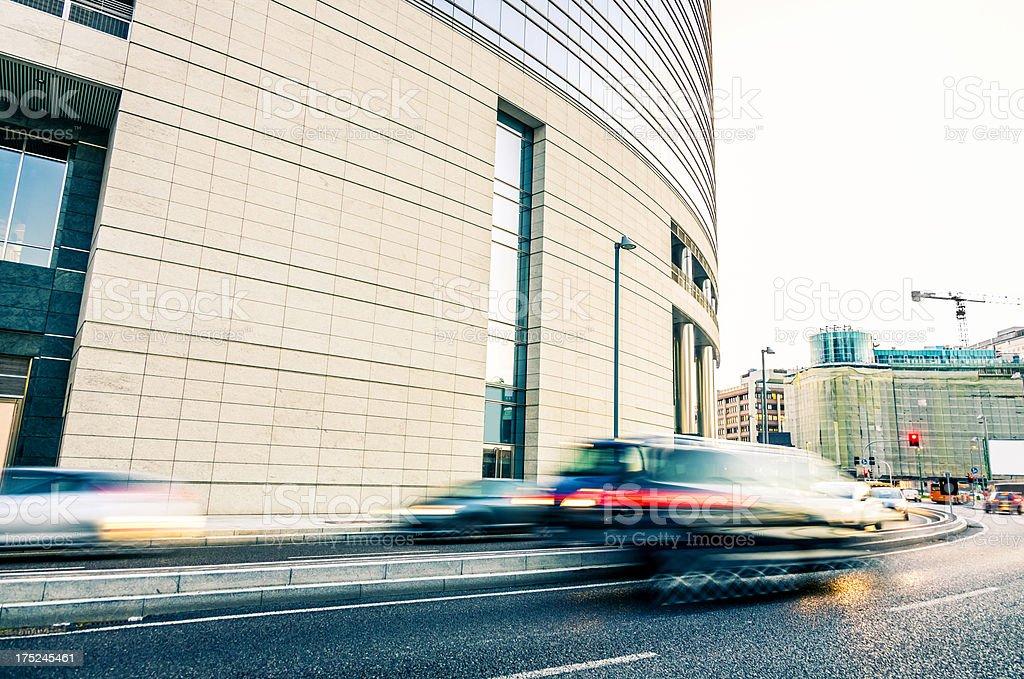 Traffic in Milan royalty-free stock photo
