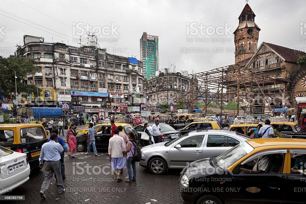 Traffic in Mumbai royalty-free stock photo