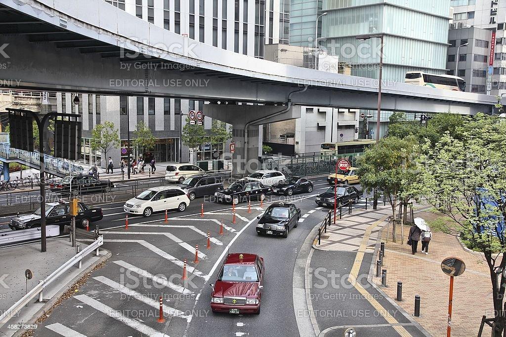 Traffic in Osaka royalty-free stock photo