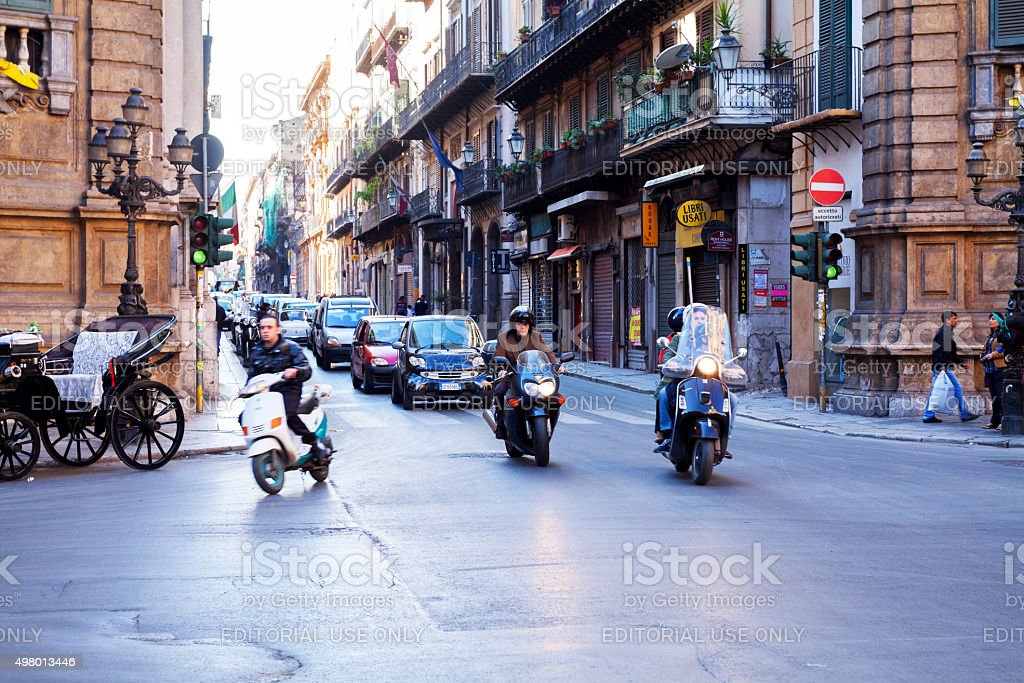 Traffic in Palermo stock photo