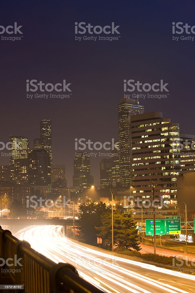 I-5 Traffic In Seattle royalty-free stock photo
