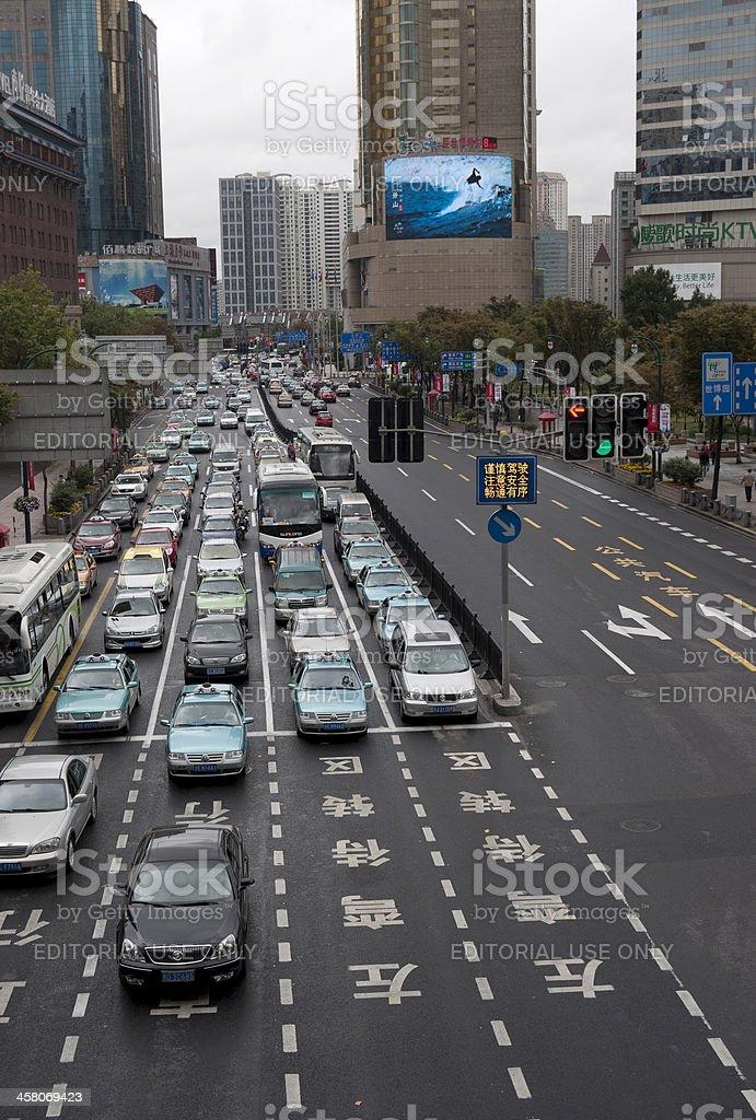 Traffic in Shanghai royalty-free stock photo