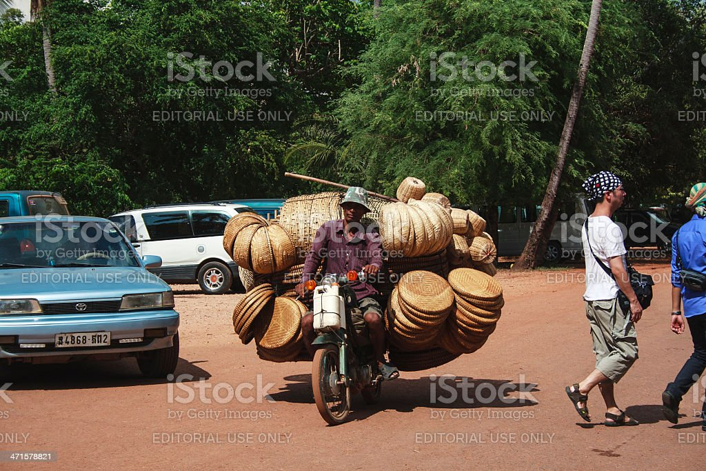 Traffic in Siem Reap royalty-free stock photo