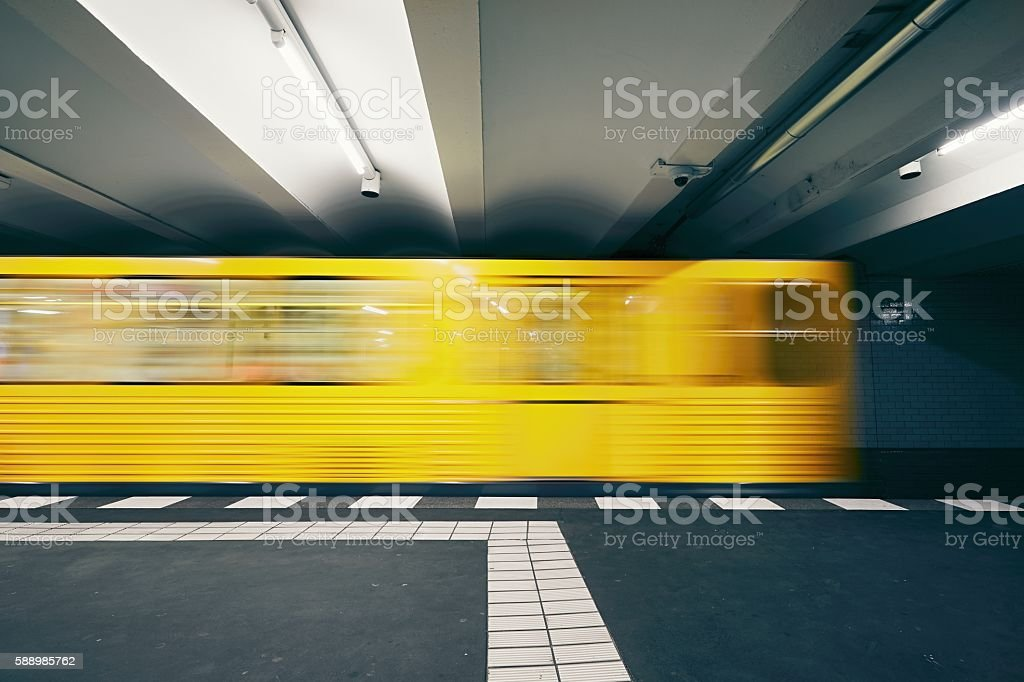 Traffic in subway stock photo