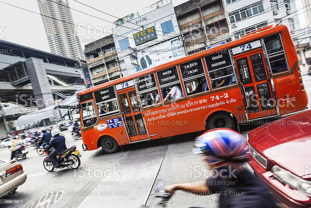 Traffic in Thailand stock photo