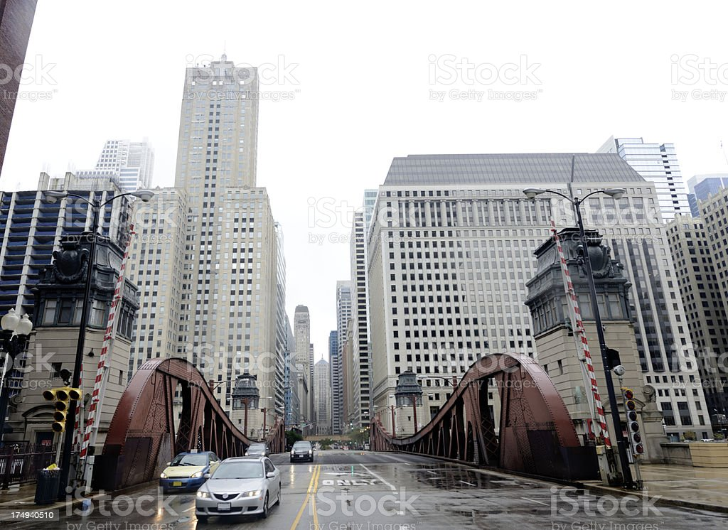 Traffic in the City,Chicago royalty-free stock photo