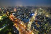 Traffic in Tokyo In The Night