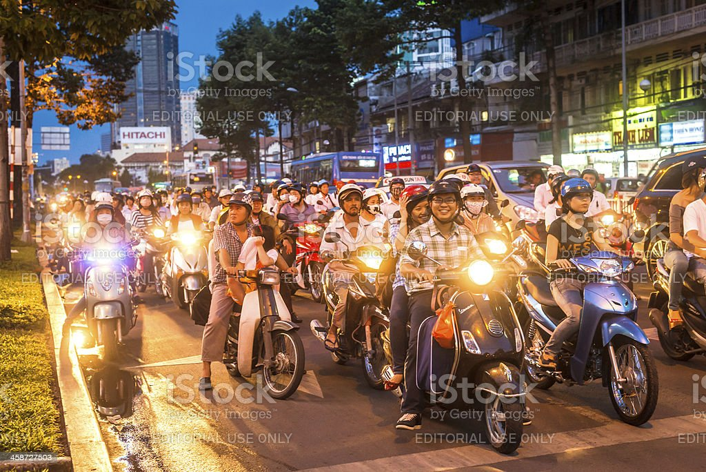 Traffic in Vietnam royalty-free stock photo