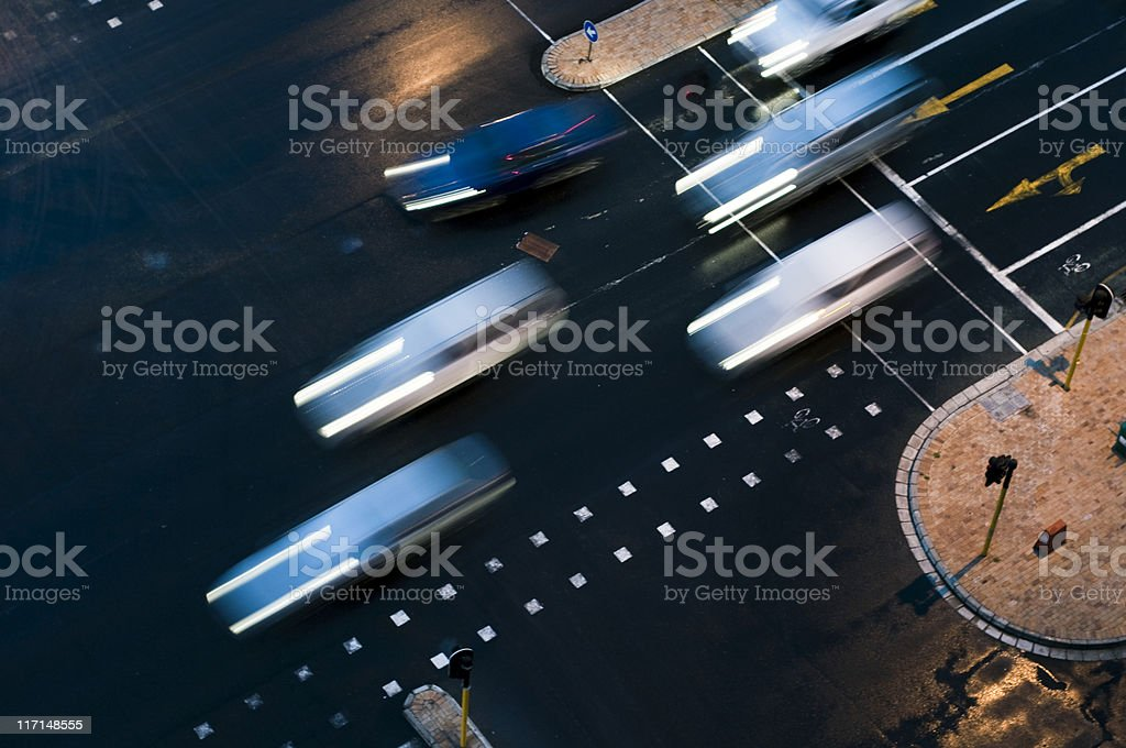 Traffic intersection royalty-free stock photo