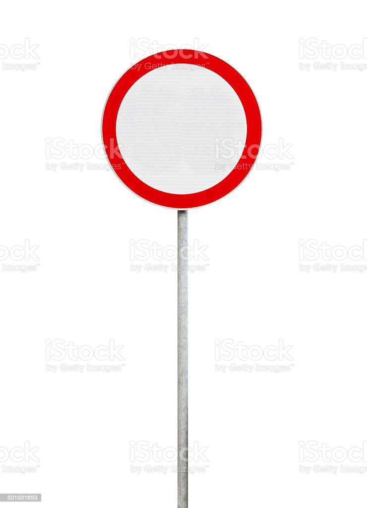 traffic is prohibited, road sign isolated on white stock photo