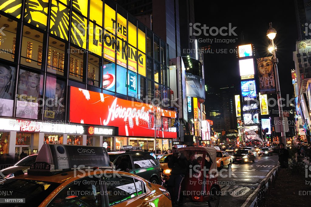 Traffic Jam at Times Square royalty-free stock photo