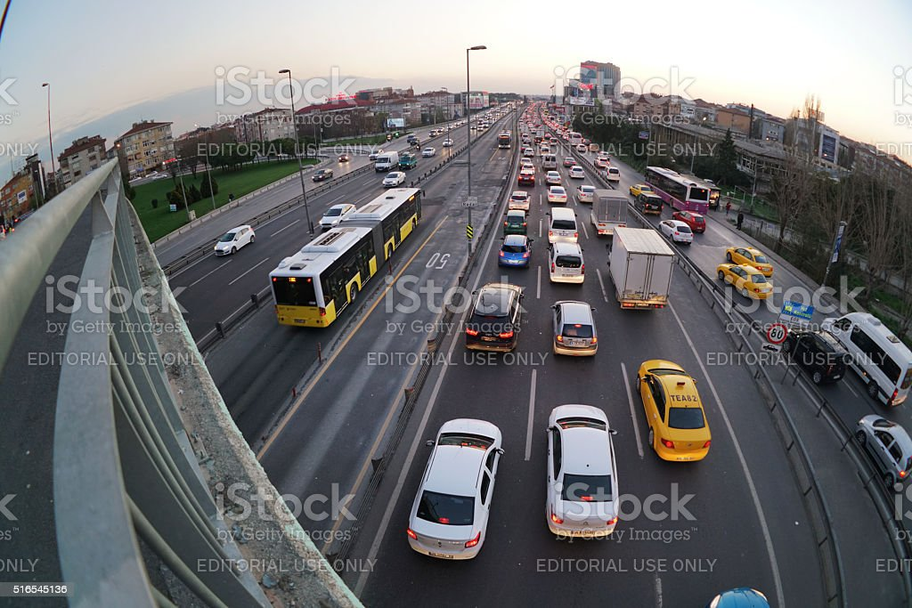 Traffic Jam in istanbul stock photo