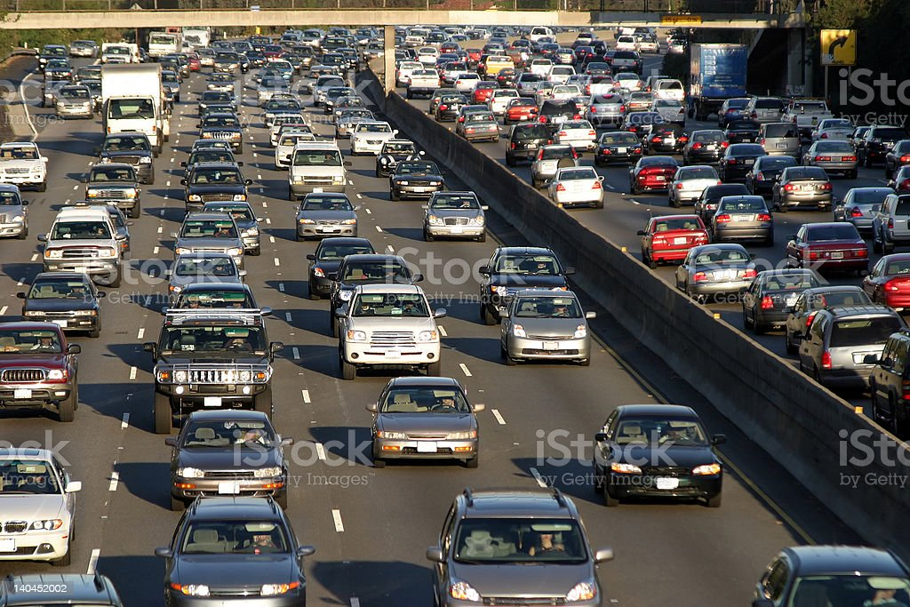 Traffic jam in Los Angeles royalty-free stock photo