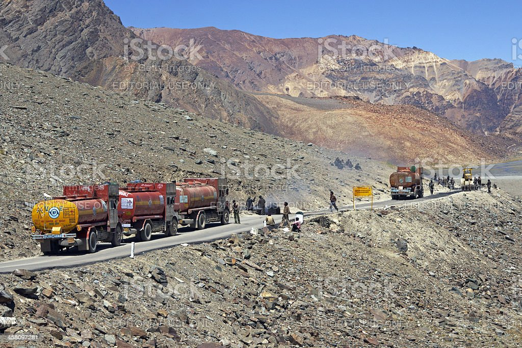 Traffic Jam in the Desert royalty-free stock photo
